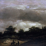 Guillaume du Bois - Dune Landscape with Road and Church, Mauritshuis