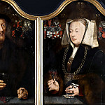Bartholomäus Bruyn the Elder - Portrait Diptych of Johann von Rolinxwerth and his Wife, Christine von Sternberg, Mauritshuis
