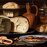 Mauritshuis - Clara Peeters - Still Life with Cheeses, Almonds and Pretzels