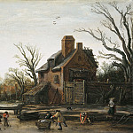 Esaias van de Velde - Winter Landscape with Farmhouse, Mauritshuis