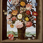 Ambrosius Bosschaert the Elder - Vase of Flowers in a Window, Mauritshuis