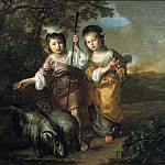 Bernard Zwaerdecroon - Portrait of Two Children Dressed as Shepherds, Mauritshuis