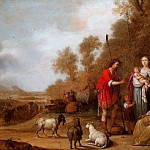 Pieter Symonsz Potter - Jacob Urging Leah and Rachel to Flee from Laban, Mauritshuis