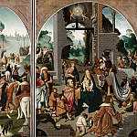Mauritshuis - Master of Alkmaar (follower of or after) - Triptych with the Adoration of the Magi
