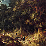 Mauritshuis - Abraham Govaerts - Wooded Landscape with Gipsy Women