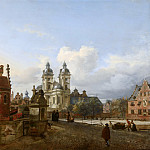Jan van der Heyden - The Church of St Andrew in Düsseldorf, Mauritshuis