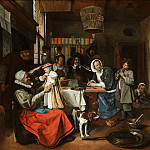 Jan Steen - 'As the Old Sing, so Pipe the Young', Mauritshuis