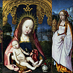 Jan Provoost - Triptych with the Virgin and Child, John the Evangelist and Mary Magdalene, Mauritshuis