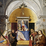 Mauritshuis - Marcello Fogolino - Madonna and Child, Enthroned, with Six Saints