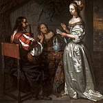 Caspar Netscher - Company Making Music, Mauritshuis