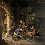 Peasants at an Inn, Adriaen Van Ostade