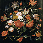Mauritshuis - Abraham Mignon - Flowers in a Glass Vase