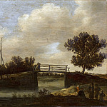 Mauritshuis - Jan van Goyen (possibly) - Landscape with Bridge, known as 'The Small Bridge'