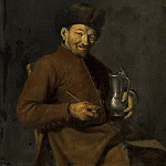 Anonymous - Old Man with Tankard and Pipe, Mauritshuis