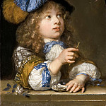 Caspar Netscher - A Boy Blowing Bubbles, Mauritshuis