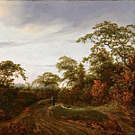Jacob van Ruisdael - Road through a Wooded Landscape, Mauritshuis
