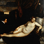 Mauritshuis - Titian (after) - Venus with an Organist and a Dog