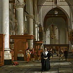 Cornelis de Man - Interior of the Laurenskerk in Rotterdam, Mauritshuis