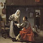 Frans van Mieris the Elder - Brothel Scene, Mauritshuis