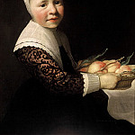 Aelbert Cuyp - Portrait of a Girl with Peaches, Mauritshuis
