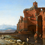 Bartholomeus Breenbergh – Italian Landscape with the Aurelian Wall, Mauritshuis