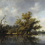 Salomon van Ruysdael - Riverbank with Old Trees, Mauritshuis