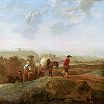 Mauritshuis - Aelbert Cuyp (manner of) - Migrating Peasants in a Southern Landscape
