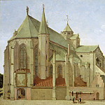 Pieter Saenredam - The Mariaplaats with the Mariakerk in Utrecht, Mauritshuis