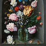 Mauritshuis - Jacob de Gheyn II - Flowers in a Glass Flask