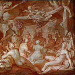 Abraham Bloemaert - Feast of the Gods, possibly the Feast at the Wedding of Peleus and Thetis, Mauritshuis