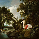 Moyses van Wtenbrouck - Wooded Pool with Salmacis and Hermaphroditus, Mauritshuis