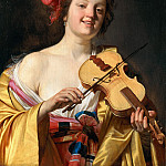 Gerrit van Honthorst - Woman Playing the Violin, Mauritshuis