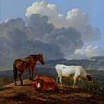 Karel Dujardin - Italianate Landscape with Cattle, Mauritshuis