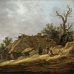 Jan van Goyen - Dilapidated Farmhouse with Peasants, Mauritshuis