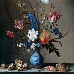 Balthasar van der Ast - Flowers in a Wan-Li Vase, with Shells, Mauritshuis