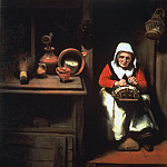 The Old Lacemaker, Nicolaes Maes