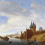 Salomon van Ruysdael - Winter Landscape at Arnhem, Mauritshuis