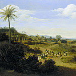 Frans Post - Brazilian Landscape with a House under Construction, Mauritshuis