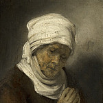 Rembrandt van Rijn - Praying Woman, Mauritshuis