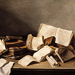 Jan Davidsz de Heem - Still Life with Books and a Violin, Mauritshuis