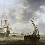 Mauritshuis - Jacob Adriaensz Bellevois - View of Ships on a River