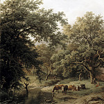 Mauritshuis - Barend Cornelis Koekkoek - Brook by the Edge of the Woods