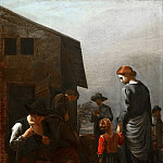 Mauritshuis - Michael Sweerts - Peasant Family, with a Man Removing Fleas from Himself