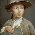 Nicolas-Bernard Lépicié - Portrait of a Boy with a Drawing Book, possibly a Pupil of the Artist, Mauritshuis