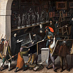 Mauritshuis - François Bunel the Younger - The Confiscation of the Contents of a Painter's Studio