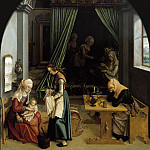 Anonymous - The Birth of Mary, Mauritshuis