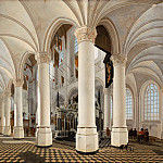 Mauritshuis - Gerard Houckgeest - Ambulatory of the Nieuwe Kerk in Delft, with the Tomb of William the Silent