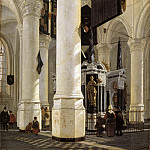 Mauritshuis - Gerard Houckgeest - The Tomb of William the Silent in the Nieuwe Kerk in Delft