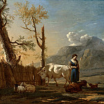 Landscape with a Shepherdess, Karel Dujardin