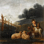 Mauritshuis - Karel Dujardin (after) - Young Shepherd Milking a Goat